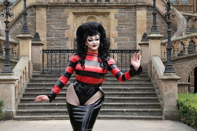 Ellie Diamond in her Beano drag costume, worn on RuPaul's Drag Race UK, which has been acquired by a museum in her home town of Dundee (Photo: Leisure and Culture Dundee/PA Wire).