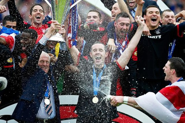 Rangers last lifted the Scottish league trophy in 2011 when Walter Smith was manager.