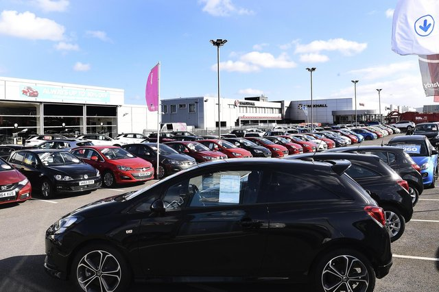 There were 141,583 new cars registered across the UK in April, the Society of Motor Manufacturers and Traders said. That dwarfed the total of 4,321 recorded in the same month in 2020, when the UK was in a full coronavirus lockdown. Picture: Lisa Ferguson