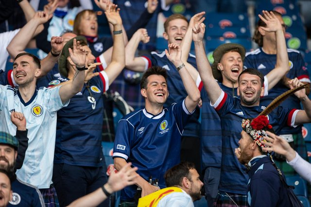 Scotland fans back their team at Hampden
