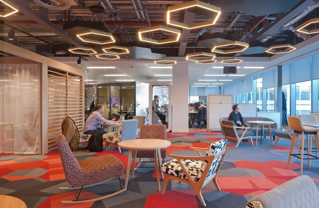 New workplaces offer spaces that mimic cafés and hotel lobbies, says Kennedy. Picture: David Barbour.