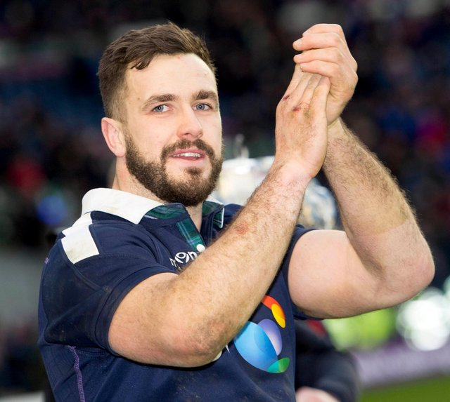 Alex Dunbar is retiring from rugby after a number of injuries and will return to his farming roots. Picture: Gary Hutchison/SNS