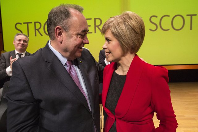 Nicola Sturgeon has said she does not have to spend much time talking about her predecessor Alex Salmond now he has his own political party.