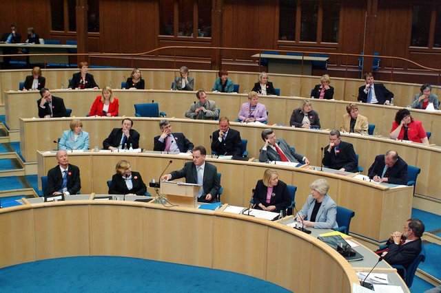 The parliament first met at the General Assembly Hall at The Mound         Pic Adam Elder/Scottish Parliament