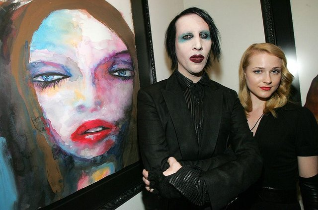 Marilyn Manson and Evan Rachel Wood were in a relationship from 2007 to 2010