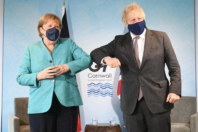 Premierminister Boris Johnson wird Bundeskanzlerin Angela Merkel zum letzten Mal empfangen, bevor er später in diesem Jahr in den Ruhestand geht