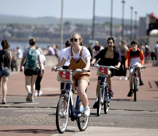 Portobello has proved to be Just Eat Cycles' most popular area for bike hires. Picture: Lisa Ferguson
