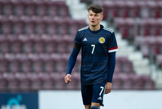Rangers right-back Nathan Patterson pictured during his fourth and most recent appearance for Scotland under-21s against Croatia at Tynecastle last November. (Photo by Craig Foy / SNS Group)