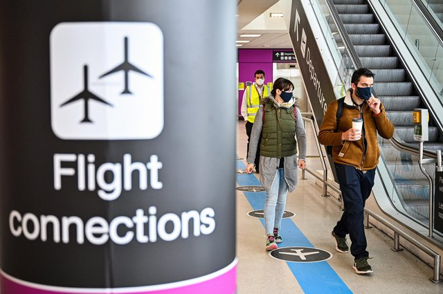 Passengers make their way through the main terminal at Edinburgh Airport. The Scottish Government said a ban on international holidays for Scots will not be lifted before 17 May. (Photo by Jeff J Mitchell/Getty Images)