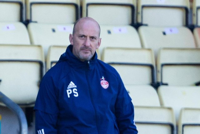 Paul Sheerin looks on during Aberdeen's 1-0 Scottish Cup win over Dumbarton