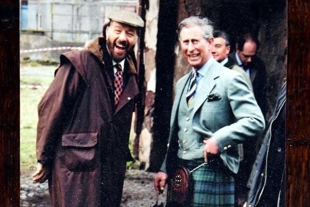 Dr Marc Ellington shares a joke with the Duke of Rothesay