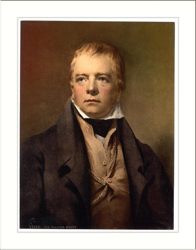Sir Walter Scott - his notoriously-spidery handwriting and the speed at which some of his poems were published led to mistakes being written into printed versions of the works. PIC: