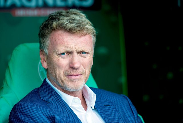 David Moyes managing Real Sociedad against Celtic in a pre-season friendly in 2015. Picture: SNS