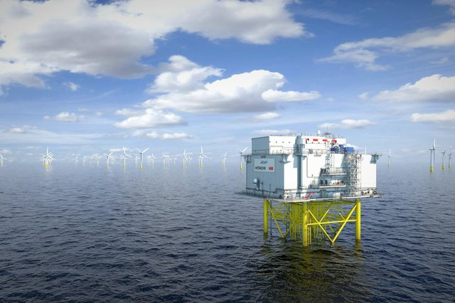 Working closely with platform manufacturer Aibel, Dogger Bank Wind Farm will use an unmanned HVDC substation design – a world-first, slashing weight and cost. Upon first installation in Dogger Bank A during 2023, the project's HVDC facility will also become the largest-ever at 1.2GW, marking a major scale up from the previous industry benchmark of 0.8GW. Picture: Aibel