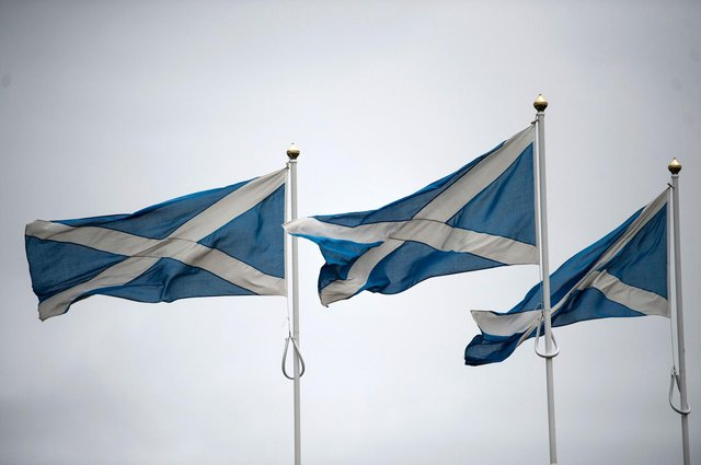 The latest poll has indicated the SNP could win a small majority at the Scottish election in May. Picture: Oli Scarff/AFP via Getty Images