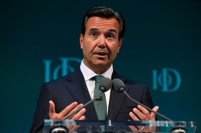 Antonio Horta-Osorio, the former group chief executive of Lloyds Banking Group, addresses the Institute of Directors convention at the Royal Albert Hall, London. Picture: Jonathan Brady/PA