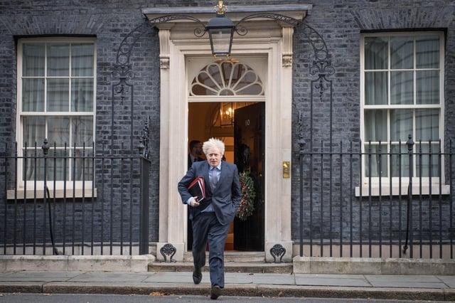 Prime minister, Boris Johnson leaves Downing Street. Picture: PA