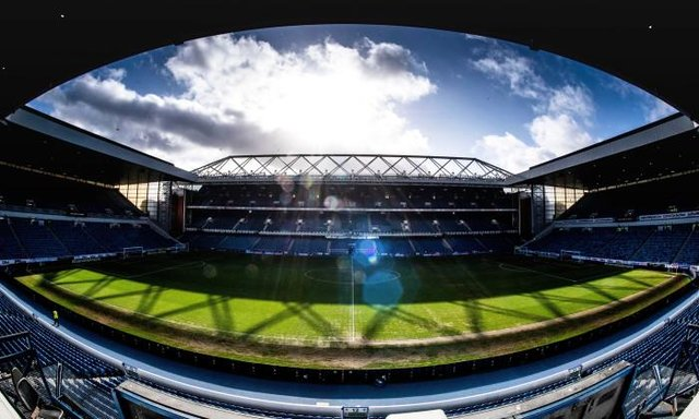 GLASGOW, SCOTLAND - FEBRUARY 16: A General View of Ibrox Stadium during the Ladbrokes Premiership match between Rangers and Livingston, at Ibrox, on February 16, 2020, in Glasgow, Scotland. (Photo by Craig Foy / SNS Group)
