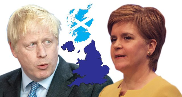 Nicola Sturgeon has promised another independence referendum, but Boris Johnson has said focus should be on the pandemic recovery (Composite image: Kim Mogg/JPI Media)