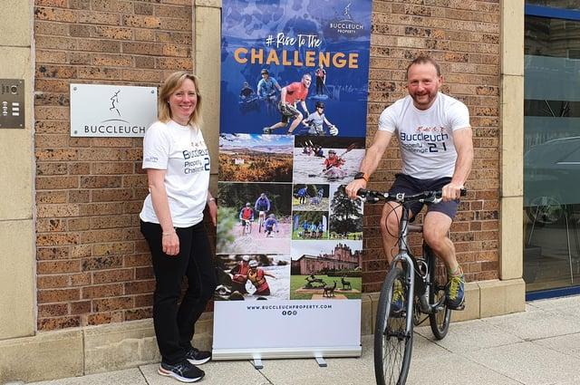 Joanna Watson and David Peck unveiling the Buccluech Property Challenge 2021.