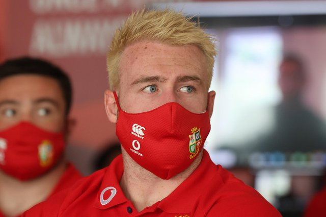 Scotland captain Stuart Hogg sports newly bleached hair at the British & Irish Lions administration day ahead of the tour to South Africa. Picture: ©INPHO/Billy Stickland