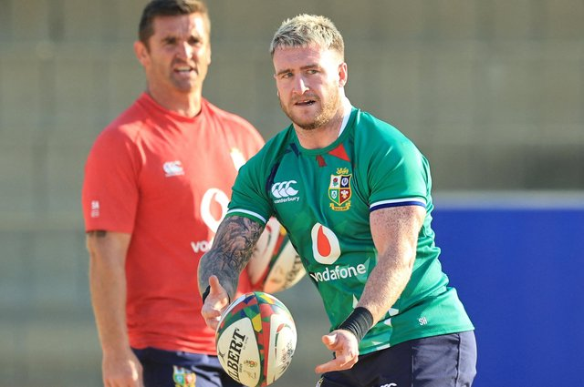 Stuart Hogg during a British and Irish Lions training session at St Peter's College in Johannesburg. Picture: David Rogers/AFP via Getty Images