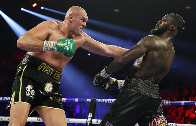 An arbitration hearing ruled WBC world heavyweight holder Fury will have to fight Deontay Wilder for a third time before 15 September 2021. (Pic: Getty)