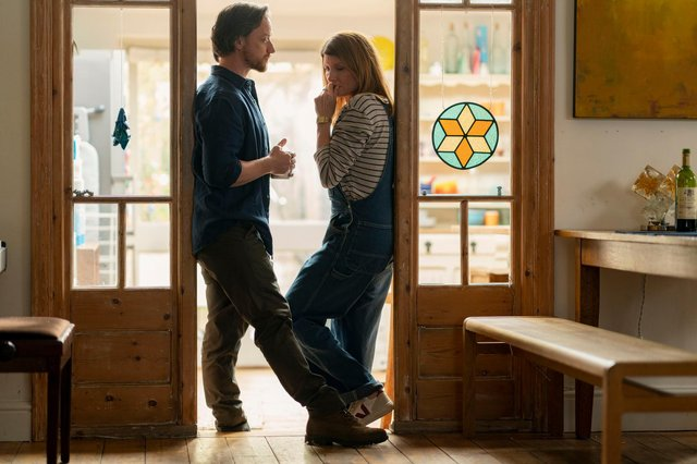 James McAvoy and Sharon Hogan in Together (C) Arty Films Ltd - Photographer: Peter Mountain