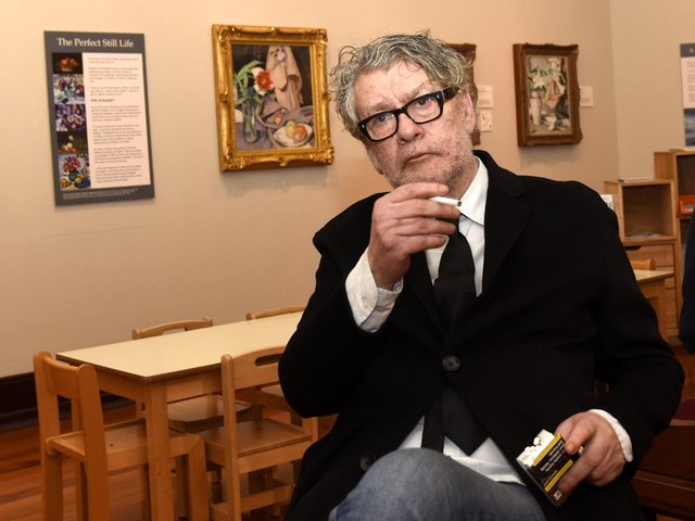Jack Vettriano in Kirkcaldy to promote his major new exhibition (Pic: Fife Photo Agency)