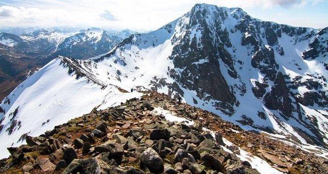 The Carn Mor Dearg arete connects Ben Nevis with Carn Mor Dearg picture: Shutterstock
