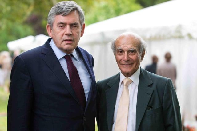Gordon Brown with Dr Hector Chawla     Picture: Alex Hewitt