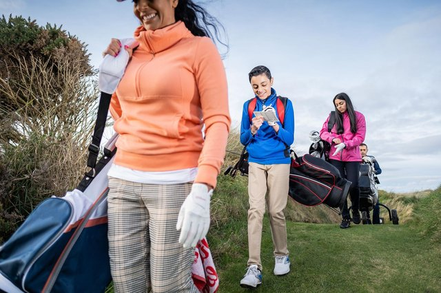 The average age of people playing golf has fallen while there has been an increase in th number of women taking up the game. Picture: R&A