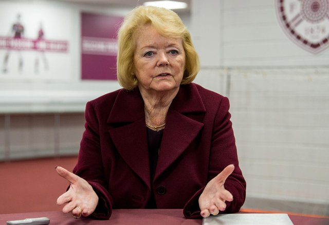 Ann Budge has addresses suggestions that Hearts are on the brink.