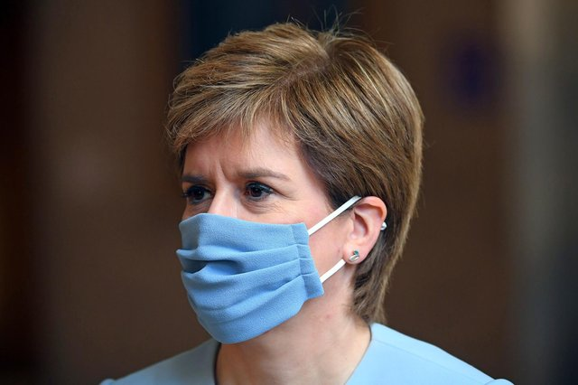The First Minister will be heading up today's covid briefing at 12.15pm (Image: Andy Buchanan/PA Wire)