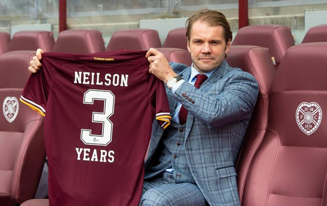 Robbie Neilson will use the nature of the club's relegation as a motivational factor. Picture: SNS