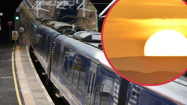 It is suspected that a points failure at Haymarket West Junction on Thursday which led to the cancellation of train services was caused by the hot weather in Edinburgh.