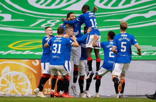 Rangers are on course to win the Scottish Premiership at Celtic Park. Picture: SNS