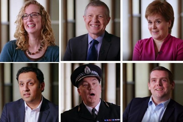 Scot Squad chief Cameron Miekelson grills the party leaders on various issues (picture credit: BBC).