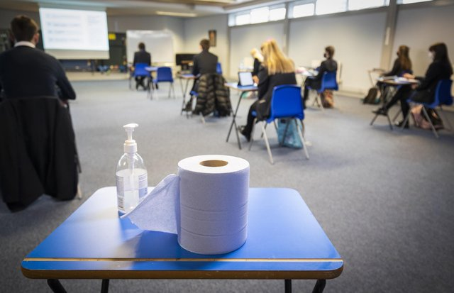 Pupils are sitting alternative assessments this year.