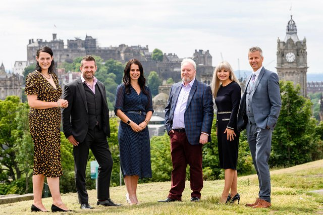Directors of Scottish accountancy firm, Douglas Home & Co. L-R: Victoria Ivinson, Mike Johnston, Sheryl Macaulay, Alan Drummond, Caroline Tice, Darren Thomson - managing director. Picture: Ian Georgeson Photography