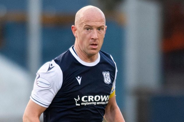 Dundee's Charlie Adam during the Scottish Premiership Play Off Final 2nd Leg match against Raith Rovers at Dens Park (Photo by Mark Scates / SNS Group)