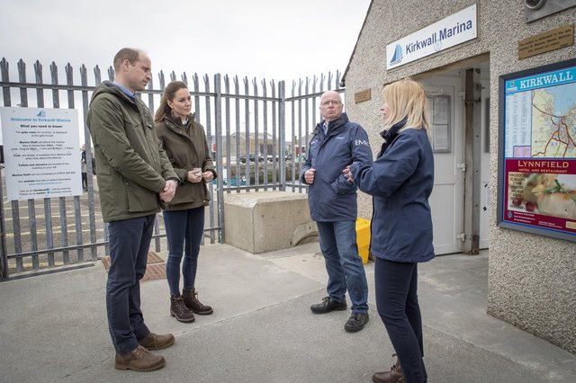 Prince William, Earl of Strathearn, and Catherine, Countess of Strathearn, visit the European Marine Energy Centre in Kirkwall this week (Picture: Jane Barlow/WPA pool/Getty Images)