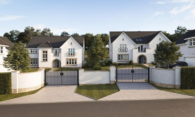 Eight new millionaire mansions are being built at the Avenue, part of the new Ravelrig Heights development in Edinburgh's Balerno area