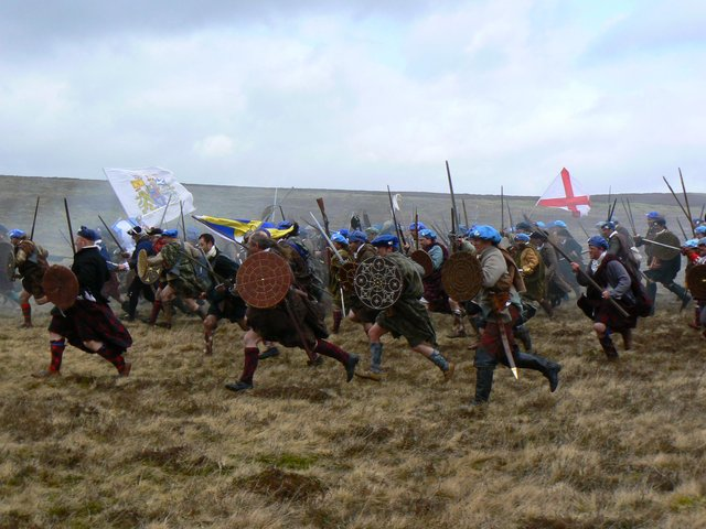 """A re-enactment of the charge at Culloden Battlefield 275 years ago today. Politicians have been urged to protect the """"gem"""" in Scotland's historic landscape which is coming under increasing threat from development pressures. PIC: Contributed."""