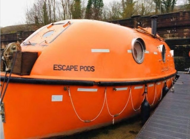 This escape pod on the Forth & Clyde Canal would guarantee a memorable staycation.