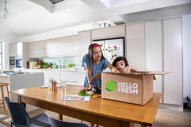 Companies such as Hello Fresh ship full meal kits to people's doors.