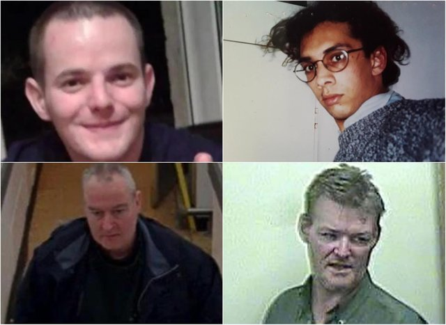 Allan Bryant (top left), Iain McLean (top right), Thomas Saunders (bottom left) and John Coleman (bottom right). Pictures: Police/supplied