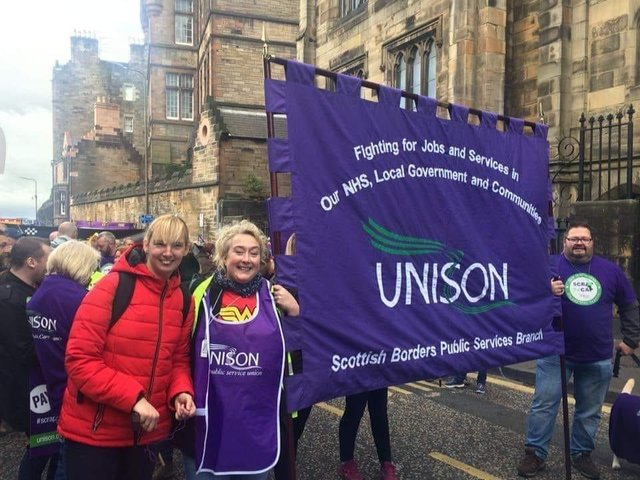 Unison is in dispute with Scottish Borders Council