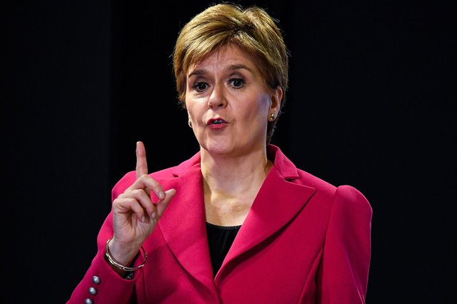 Nicola Sturgeon was pressed to increase testing for frontline workers.