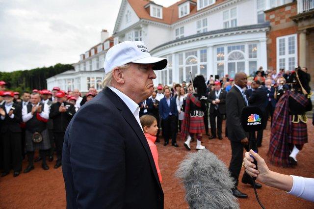 The R&A has made it clear that Turnberry will never host a major tournament while it remains under Donald Trump's ownership (Picture: Jeff J Mitchell/Getty Images)